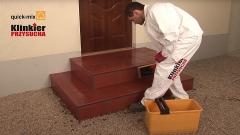 Prawidłowe położenie płytek klinkierowych na schodach